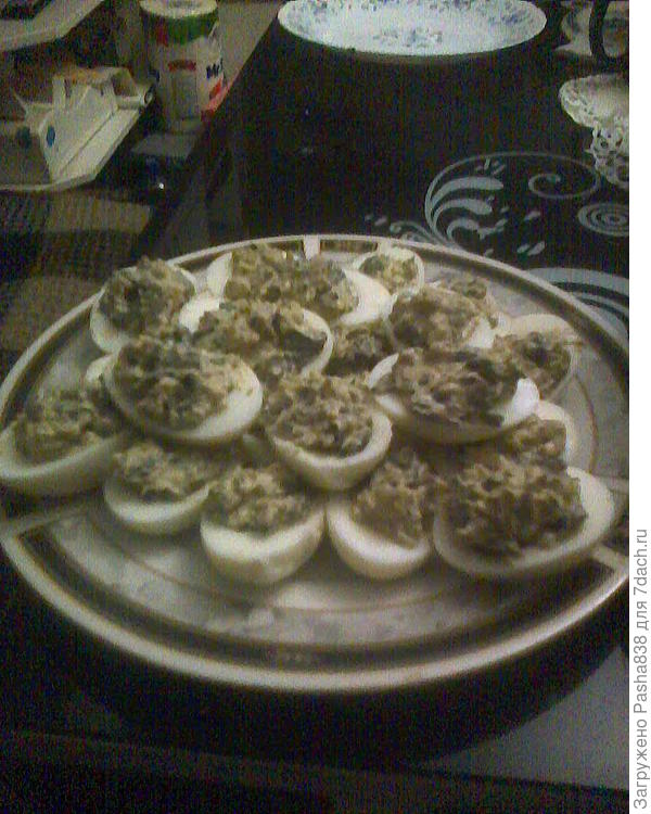 Яйца, фаршированные грибами - пошаговый рецепт приготовления с фото