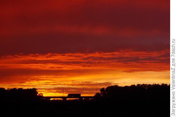 Краски менялись, все небо было как в огне...Зрелище, какого давно не видела!