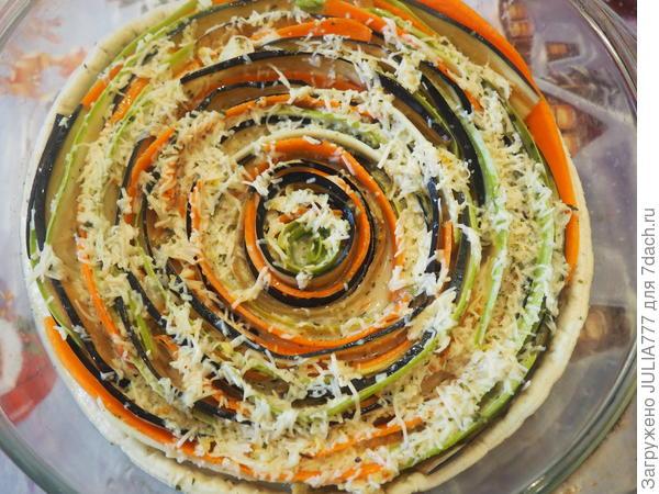 Пирог - Овощное трио - это вкусно, полезно и на вид красиво!