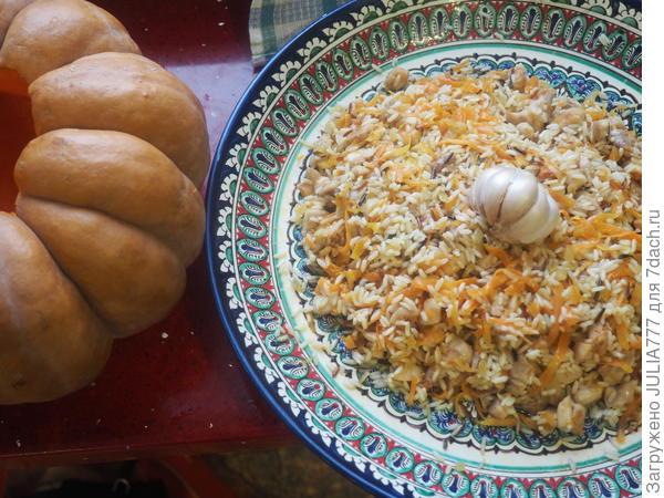 Курочка с диким рисом в тыкве - Волшебная шкатулка