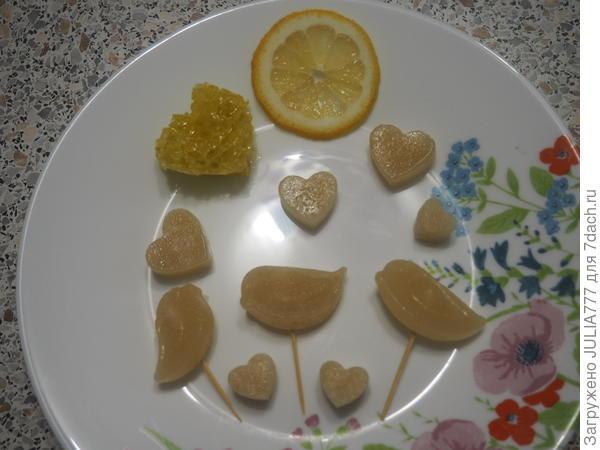 Самодельные леденцы для горла с мёдом и лимоном