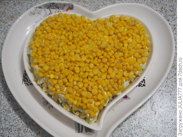 Салат; Сердцеедка; пошаговый рецепт приготовления с фото