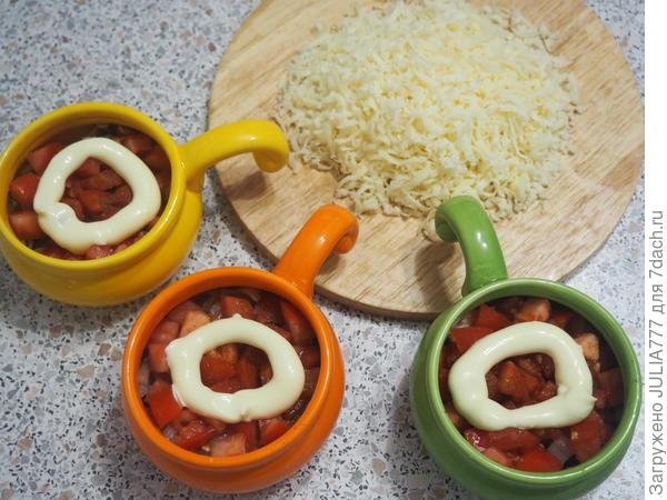 Жюльен; Морской; рецепт простой - пошаговый рецепт приготовления с фото