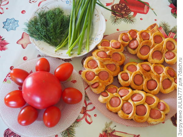 Сосиска в тесте; Праздничная. Пошаговый рецепт приготовления с фото