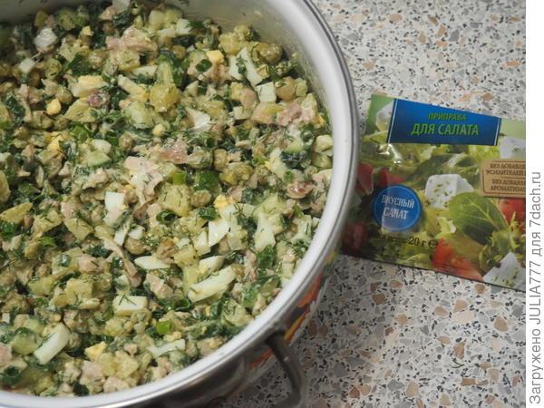 Салат с копченой курицей, овощами и яйцом. Пошаговый рецепт приготовления с фото