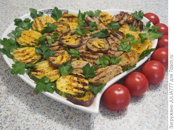 Мясо с овощами на гриле. Пошаговый рецепт с фото