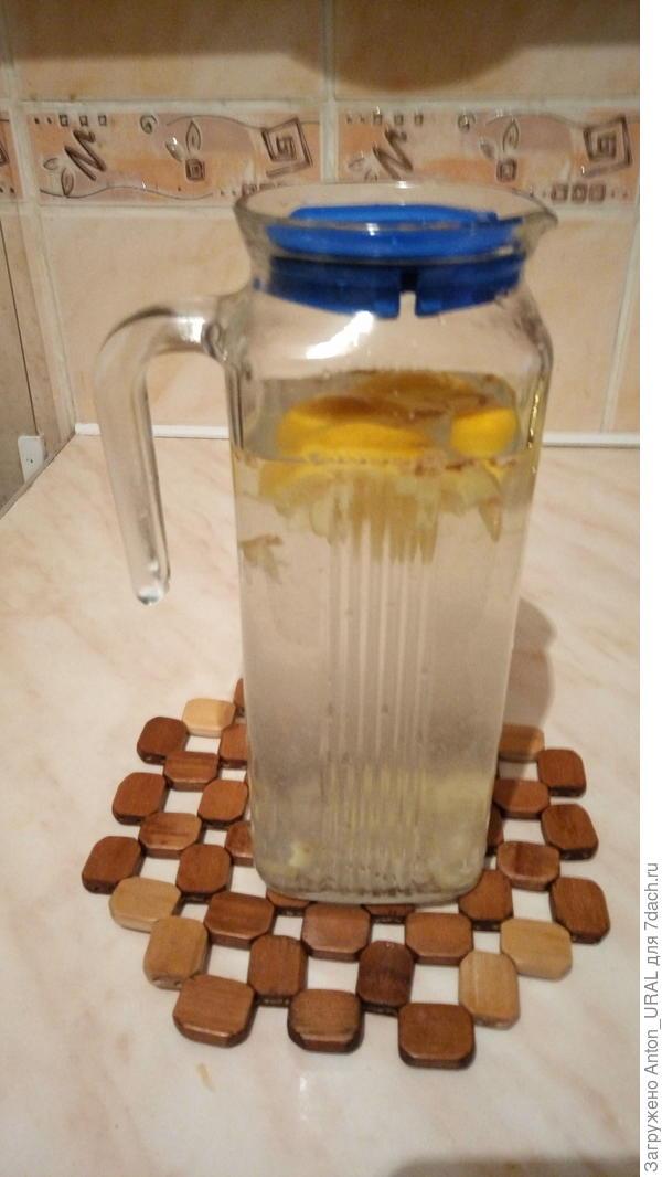 Имбирный напиток с лимоном