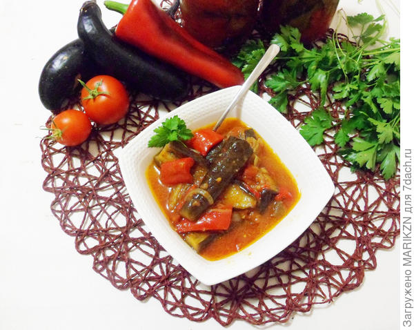 Лечо из баклажанов с болгарским перцем. Пошаговый рецепт с фото