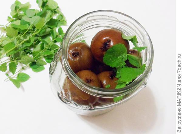 Ароматные груши в мятном сиропе - пошаговый рецепт приготовления с фото