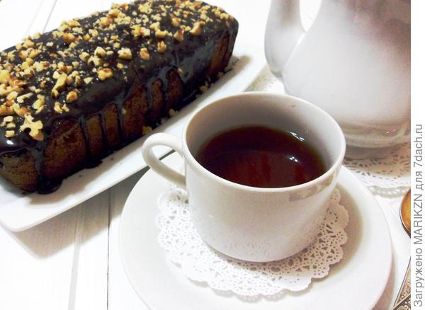 Постный шоколадный манник с ягодами и орехами - пошаговый рецепт приготовления с фото