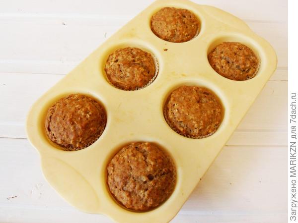 Банановые кексы с овсяными хлопьями - пошаговый рецепт приготовления с фото