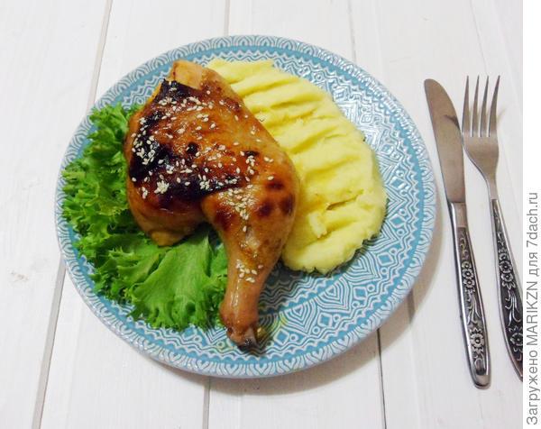 Курица в облепиховом маринаде - пошаговый рецепт приготовления с фото