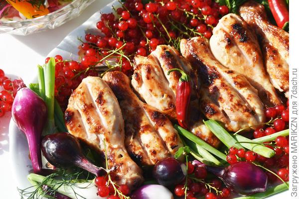 Куриные голени на гриле в горчично-майонезном маринаде. Пошаговый рецепт с фото