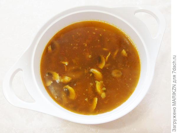 Постная грибная солянка. Пошаговый рецепт с фото