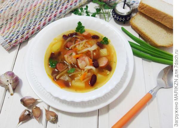 Колбасный суп по-немецки. Пошаговый рецепт с фото