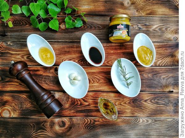 Ингредиенты для маринада для перепёлок