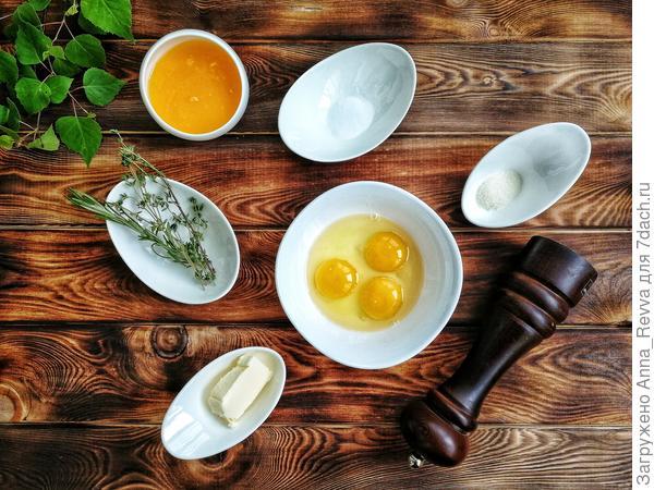 Ингредиенты для соуса к перепёлкам
