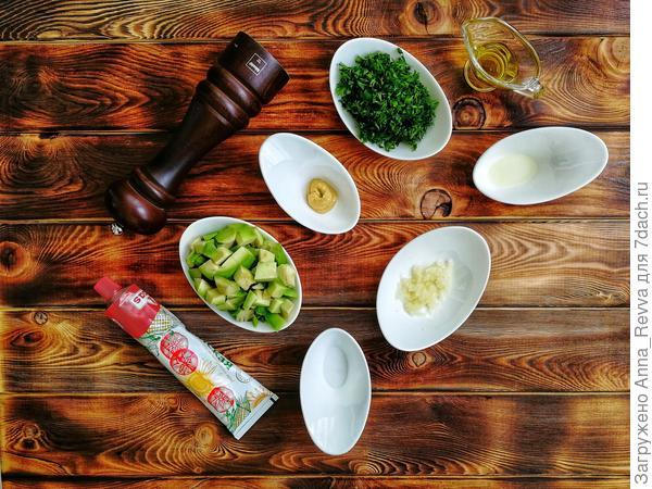 Ингредиенты для приготовления соуса
