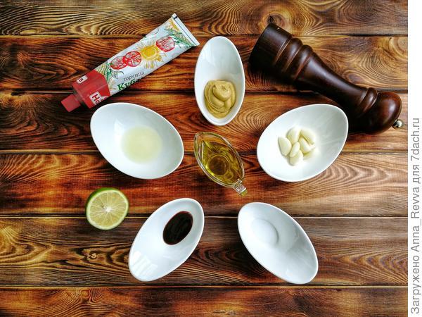 Ингредиенты для приготовления маринада  для креветок