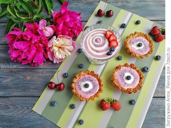 Творожно-ягодный десерт в двух интерпретациях