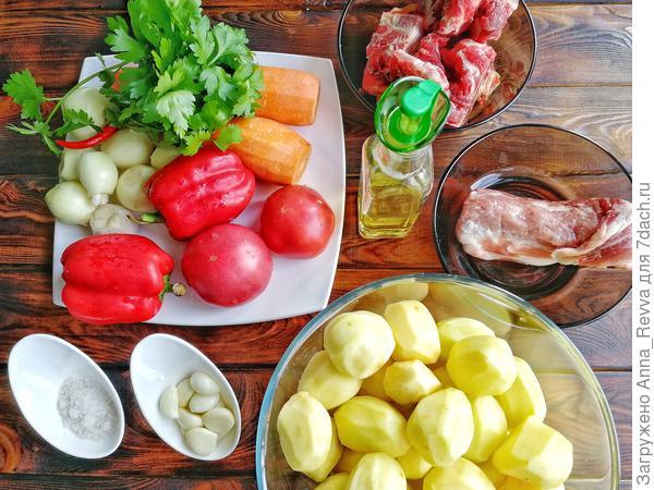 Ингредиенты, необходимые для приготовления блюда