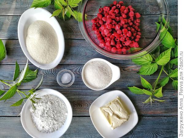 Ингредиенты, необходимые для приготовления пирога