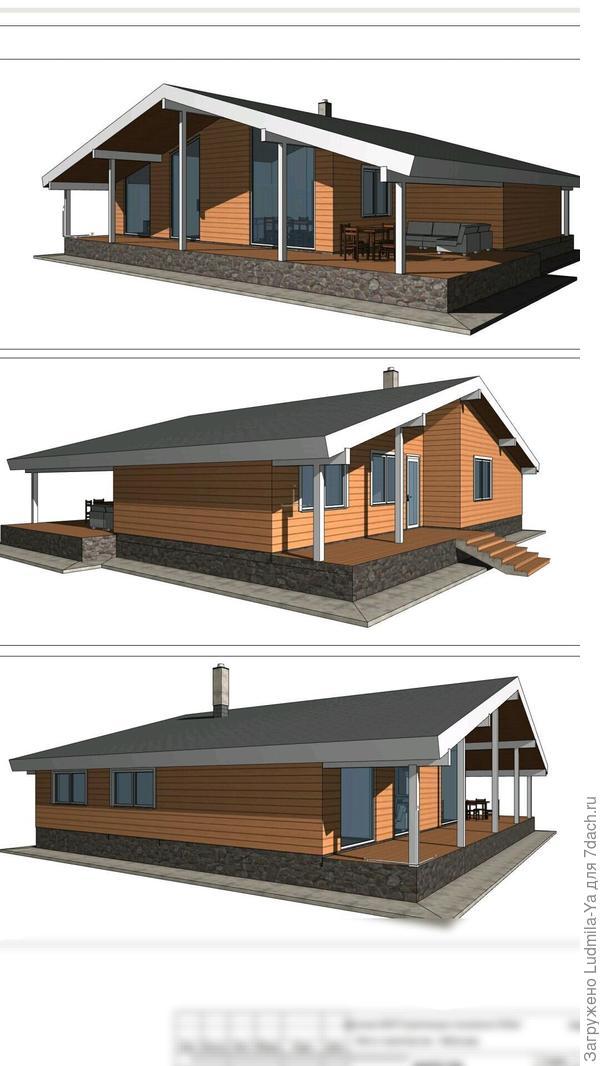 7. Архитектура нового дома (входная зона (крыльцо и малая терраса) обращена к старому дому