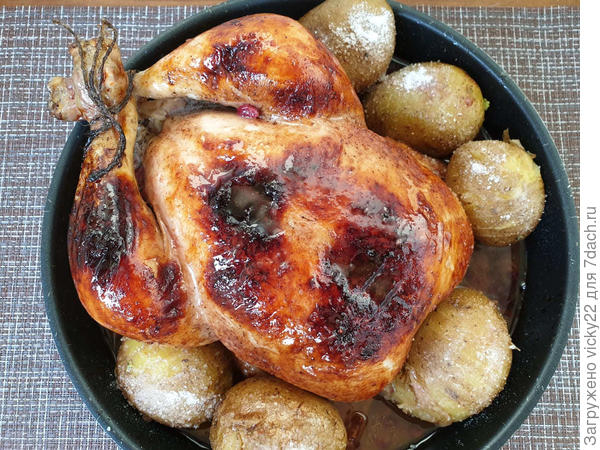 Курица в клюквенном соусе - пошаговый рецепт приготовления с фото
