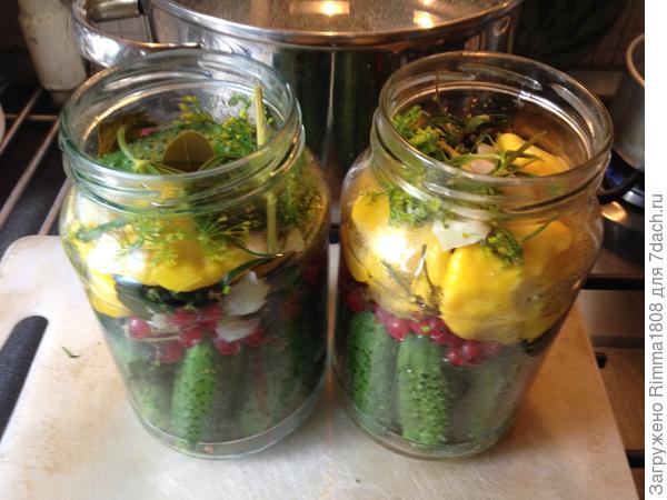 Огурчики с патиссонами маринованные «Мешочек счастья» - пошаговый рецепт приготовления с фото