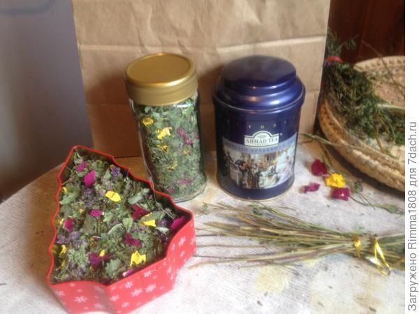 Чайный букет на зиму; Аромат моего сада; пошаговый рецепт приготовления с фото