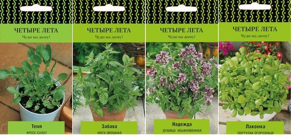 Серия семян ЧЕТЫРЕ ЛЕТА: сочные салаты и ароматная зелень