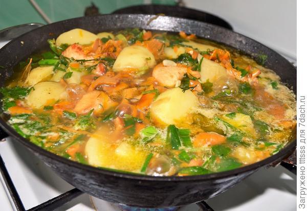 Соте из картошки с лисичками