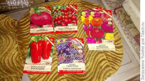 Семена в подарок