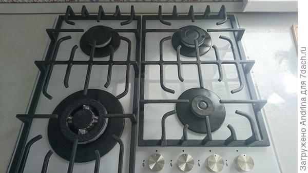 Газовая плита со стеклокерамическим покрытием