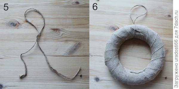 Из джута делаем петельку. Фото автора