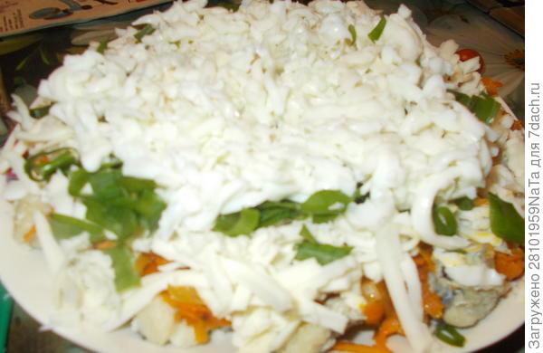 Салат с рыбой - пошаговый рецепт приготовления с фото