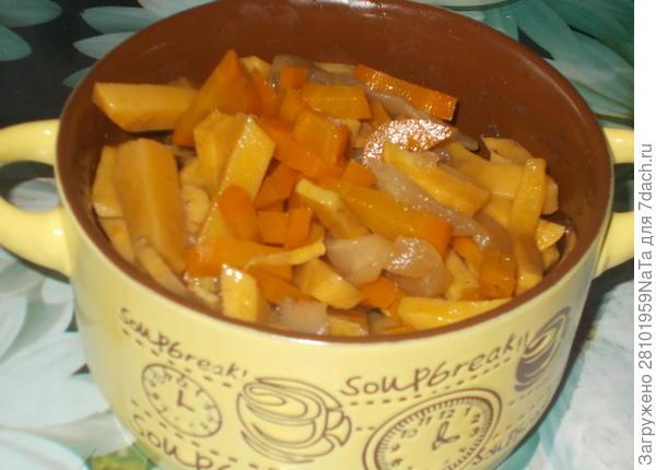 запеченные репа и морковь с медом