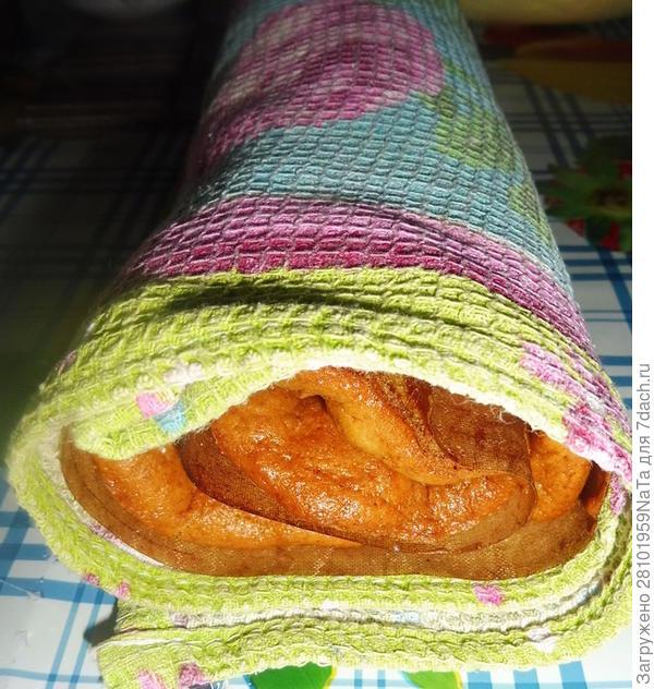 Рулет медово-тыквенный - пошаговый рецепт приготовления с фото
