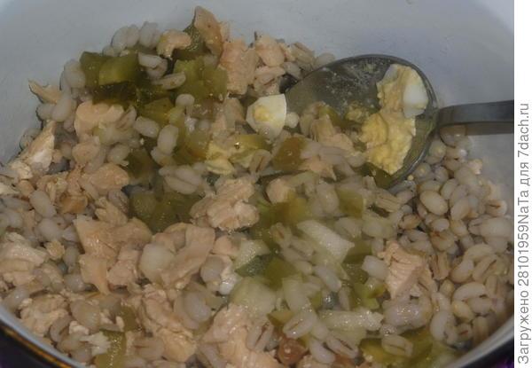 Салат с карпаччо и овощами; Мышка в норке. Пошаговый рецепт с фото