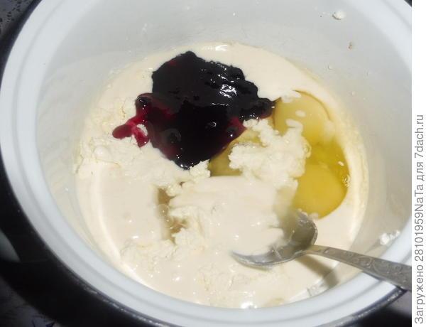 Кексы с черничным джемом. Рецепт с пошаговыми фотографиями