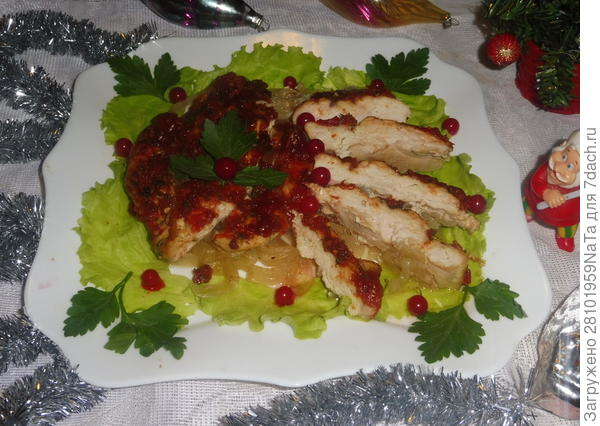 запеченное куриное мясо