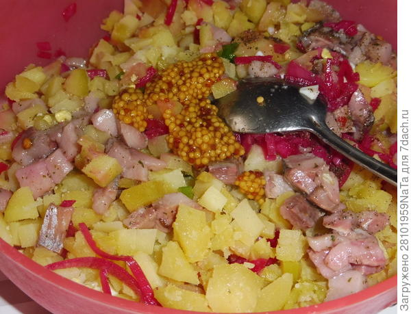 Норвежский салат с малосольной селедкой. Пошаговый рецепт с фото