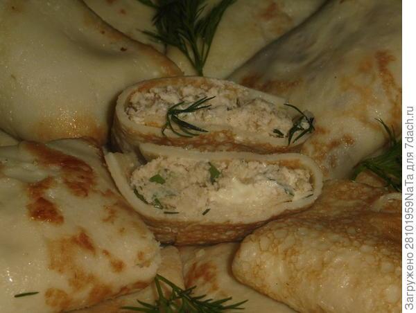 Блины на картофельном отваре с начинкой из куриного филе и цветной капусты. Пошаговый рецепт с фото