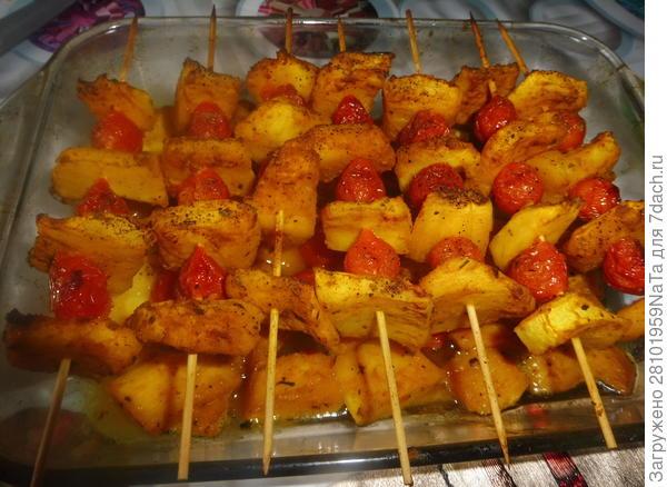 Шашлычки из кабачков в духовке - пошаговый рецепт приготовления с фото
