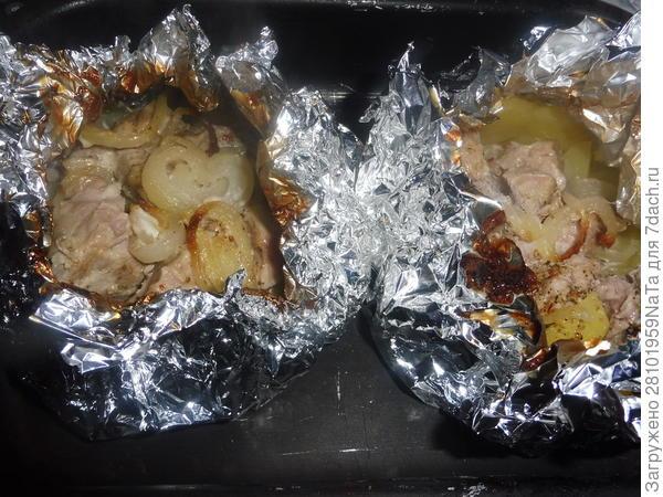 Запеченная в фольге картошка с мясом - пошаговый рецепт приготовления с фото