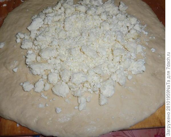 Лепешка с домашним творогом и сыром. Пошаговый рецепт приготовления с фото