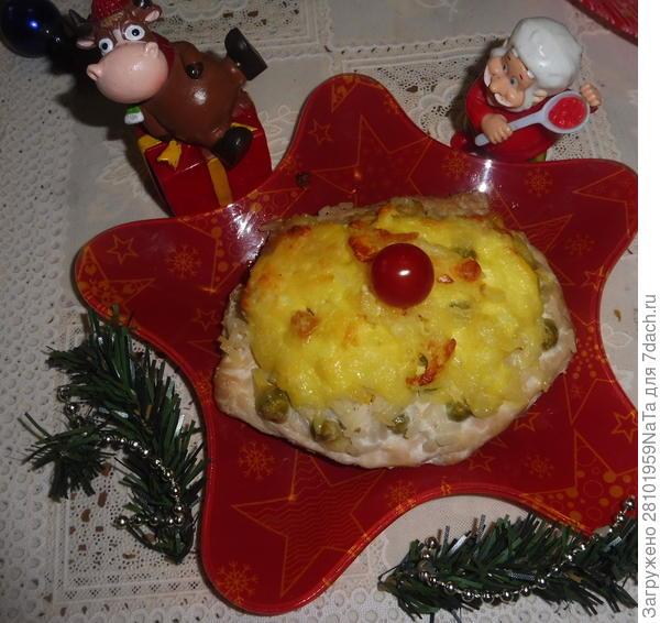 Запеченная куриная грудка с рисом, зеленым горошком и кукурузой. Пошаговый рецепт с фото