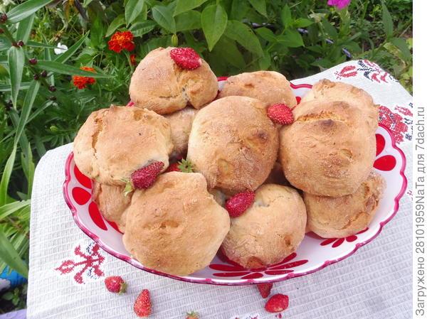 печенье с земляникой