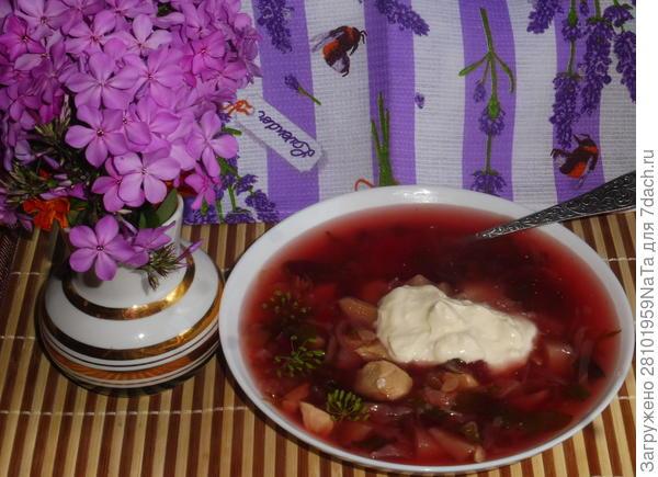 Суп с овощами и куриным мясом
