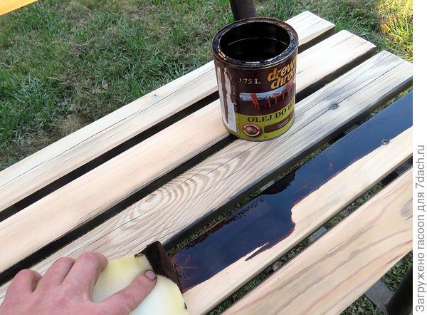 Реставрация садовой скамейки своими руками